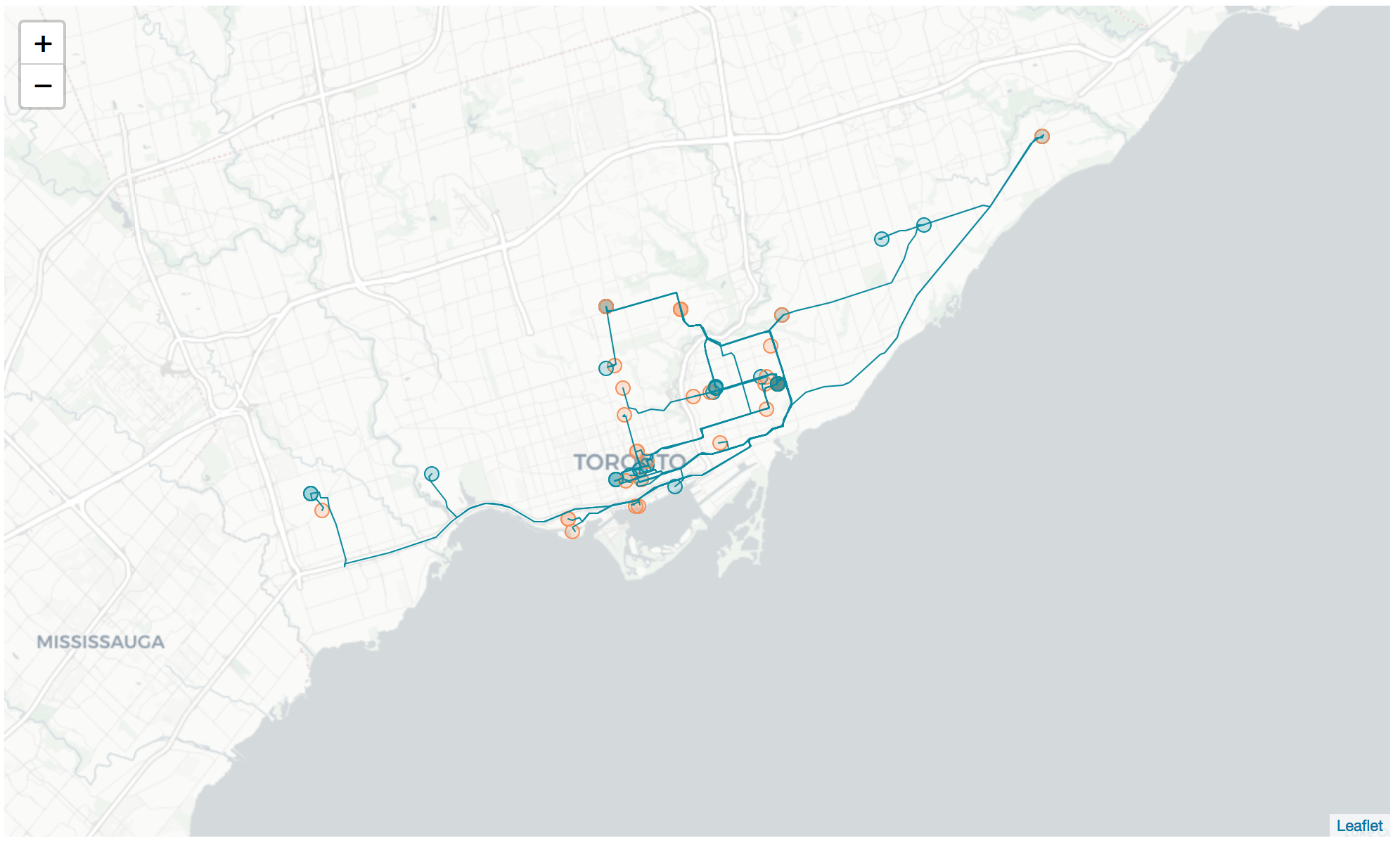 How to Visualize your Ride Sharing History in Python - by Gareth